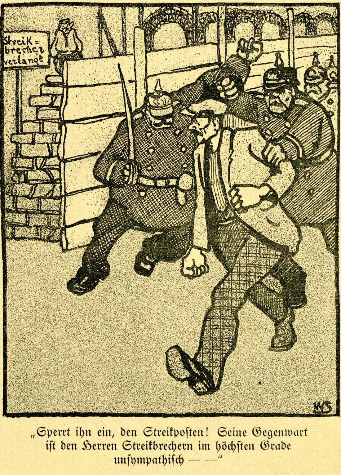 Karikatur aus »Der Wahre Jacob«, Nr. 718, vom 24.1.1914, S. 8215