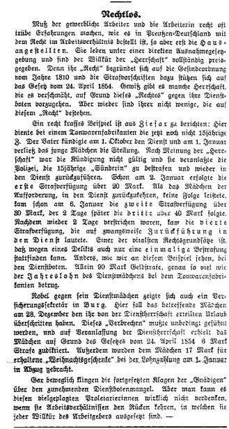Hausangestellte_Volksstimme_ 18.1.1914