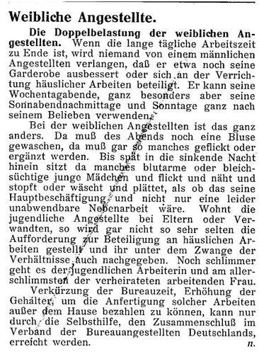 weibliche Angestellte_Der Bueroangestellte_15.1.1914