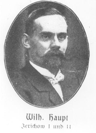 Redakteur und Expedient der »Volksstimme« und von 1912 bis 1913 Mitglied des Reichstags: der Sozialdemokrat Wilhelm Haupt.