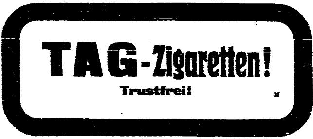 Anzeige der Tabakarbeiter-Genossenschaft in der »Volksstimme« vom 15. Februar 1914.