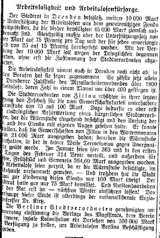 Bericht der »Volkswacht« (Westpreußen) vom 25. Februar 1914.