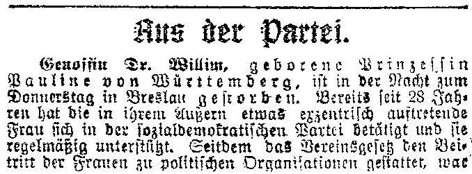 22.4. Die Rote Prinzessin_1_Luebecker Volksbote 25.4.1914_Sozialdemokratie1914