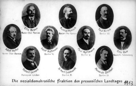 Ein schwerer Stand im ›Dreiklassenparlament‹: die Sozialdemokraten im preußischen Landtag 1913.