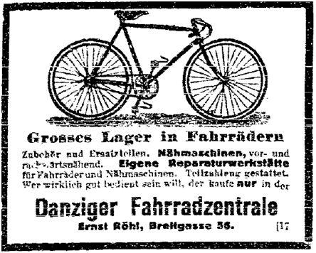 23.5. Zweiradfahren_Volkswacht (Westpreußen) 6.5._1_Sozialdemokratie1914