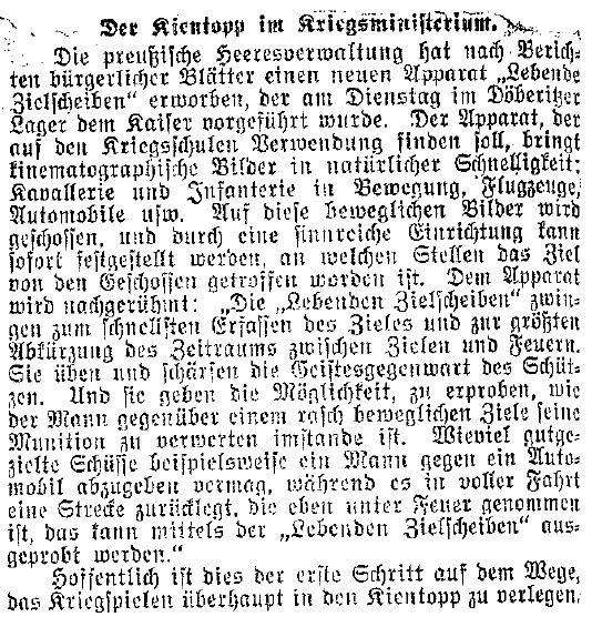 Beitrag aus der Rubrik »Politische Rundschau« des »Lübecker Volksboten« vom 29. Mai 1914.