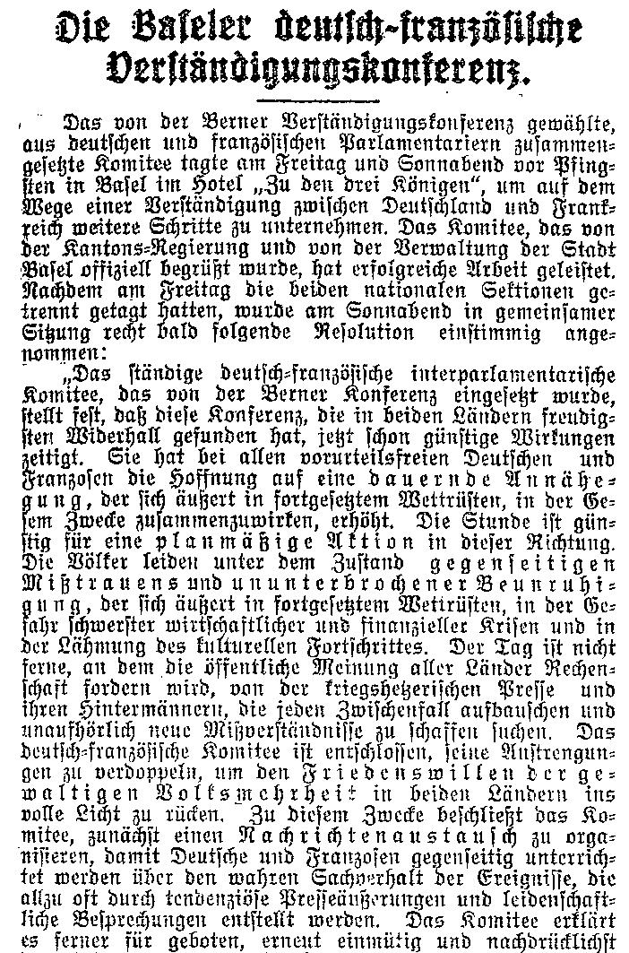 Ausschnitt des Berichts zur Konferenz im »Lübecker Volksboten« vom 2. Juni 1914.