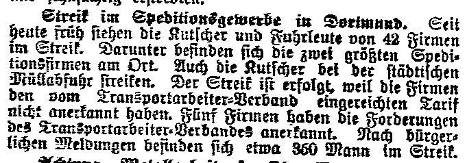 Mitteilung des »Lübecker Volksboten« vom 7. Mai 1914.