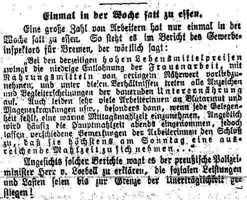 Kommentar der »Volkswacht« für Schlesien, Posen und die Nachbargebiete vom 10. Juni 1914.