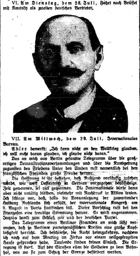 Anlässlich seines zehnten Todestags veröffentlichte der »Vorwärts« in seiner Beilage »Der Abend« am 7. November 1929 bis dato unveröffentlichte tagebuchartige Aufzeichnungen Hugo Haases.