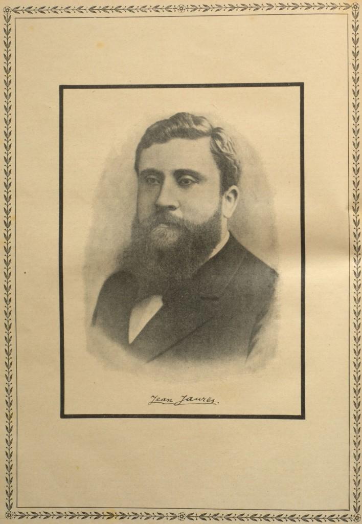 Porträt des ermordeten Jean Jaurès aus: »Der Wahre Jacob« vom 28. August 1914, Nr. 733, S. 8446.