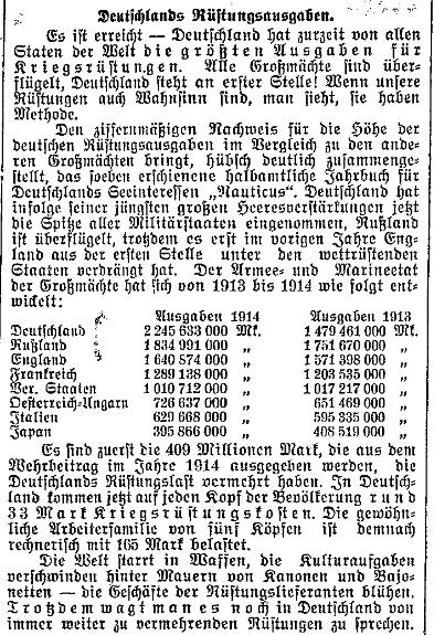 Bericht des»Lübecker Volksboten« vom 7.Juli 1914.