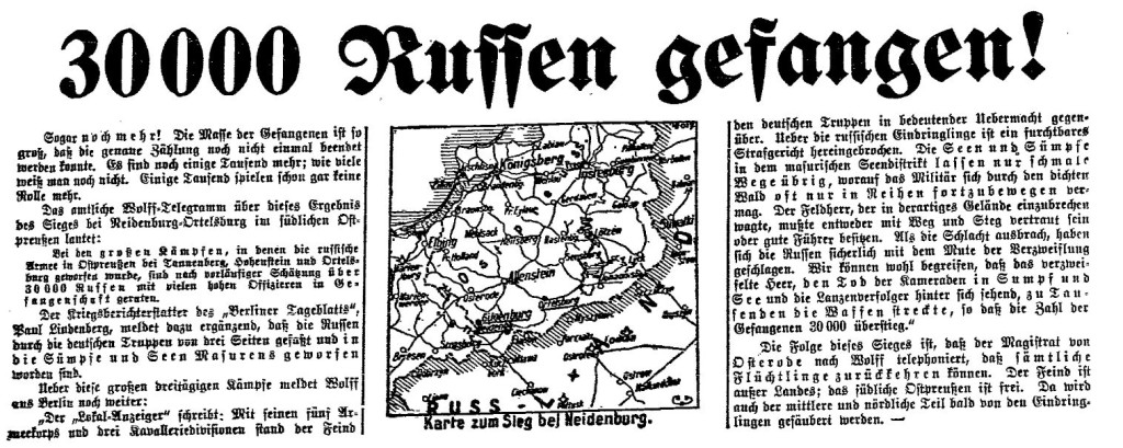 1.9. Kriegsmeldungen 1_Volksstimme (Magdeburg)_Sozialdemokratie1914