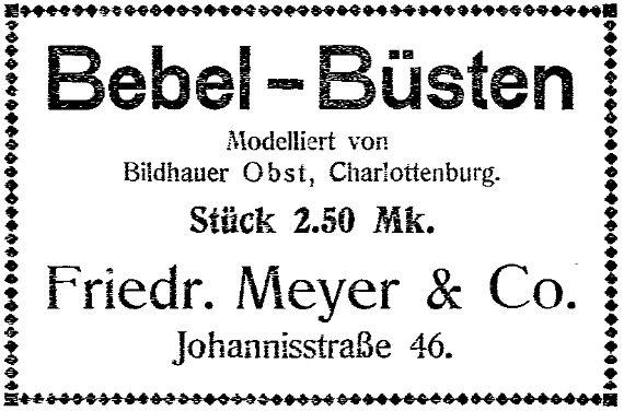 Anzeige im »Lübecker Volksboten« vom 5. Februar 1914.