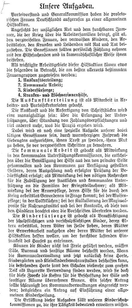 28.8. Unsere Aufgaben_Die Gleichheit_Sozialdemokratie1914
