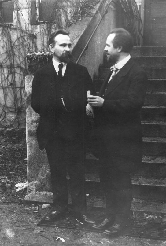 Arthur Crispien (rechts) zusammen mit Wilhelm Dittmann beim Parteitag der USPD in Leipzig am 30. November 1919. Quelle: Archiv der sozialen Demokratie der Friedrich-Ebert-Stiftung.