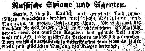 3.8. Spionagefurcht_Volkswacht (Breslau) 1_Sozialdemokratie1914