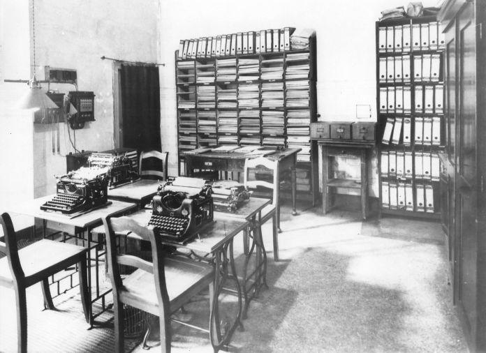 Die Räume der »Vorwärts«-Redaktion um 1910. Quelle: Archiv der sozialen Demokratie der Friedrich-Ebert-Stiftung, 6/FOTB015679.