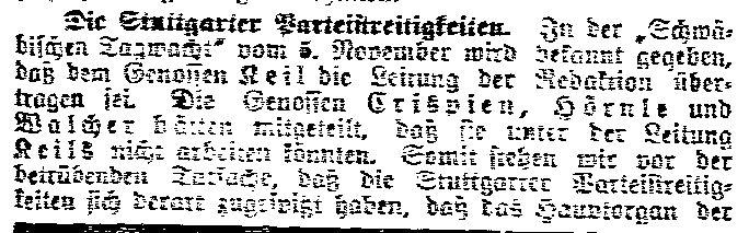 4.11. Machtspruch in Stuttgart_Lübecker Volksbote 10.11._Sozialdemokratie1914